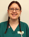 Helen Bowen, nurse at Haygate Veterinary Centre